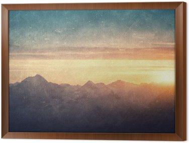 Obraz w Ramie Grunge stylu krajobrazowego
