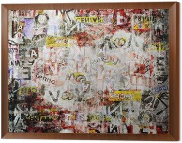 Obraz w Ramie Grunge teksturowanej tle