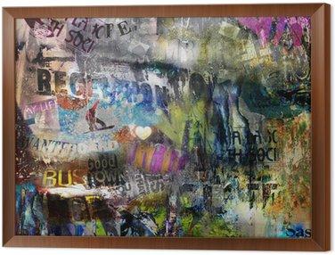 Obraz w Ramie Grungy tło plakatu rozdarty