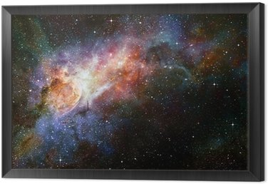 Obraz w Ramie Gwiaździsty głęboki kosmos nebual i galaxy
