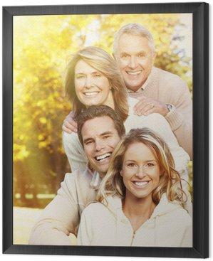 Obraz w Ramie Happy portret rodziny