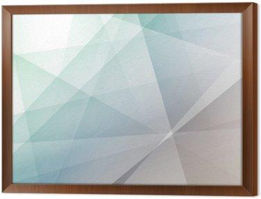 Obraz w Ramie Hipster nowoczesne przezroczyste tło geometryczne