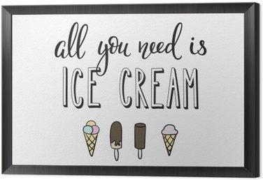 Obraz w Ramie Ice cream shop reklama promocja motywacja