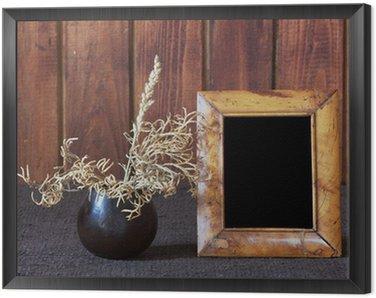 Obraz w Ramie Ikebana i stare ramki na zdjęcia