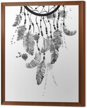 Obraz w Ramie Ilustracja akwarela z Dreamcatcher
