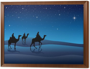 Ilustracja Silhouette Trzech Króli ze Wschodu