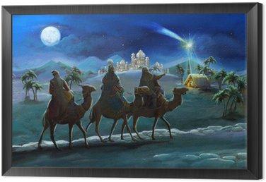 Ilustracja świętej rodziny i trzech króli