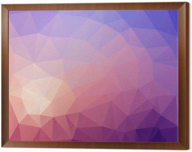 Obraz w Ramie Ilustracja z kolorowym poligonal abstrakcyjnym tle.