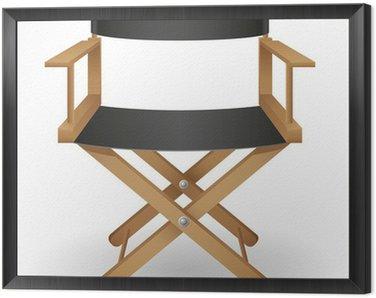 Obraz w Ramie Ilustracji wektorowych krzesło reżysera