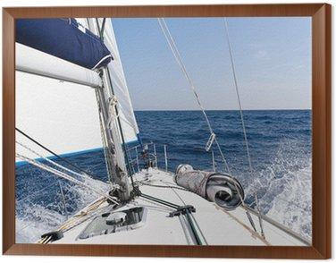 Obraz w Ramie Jacht żaglowy Prędkość w morzu