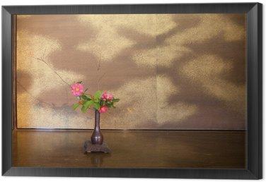 Obraz w Ramie Japoński kwiatów (ikebany) Pośrednictwo w japońskiej herbaciarni