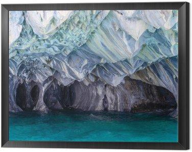 Obraz w Ramie Jaskinie marmuru jeziora General Carrera (Chile)
