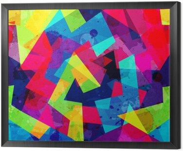 Obraz w Ramie Jasny geometryczny szwu z mocą grunge