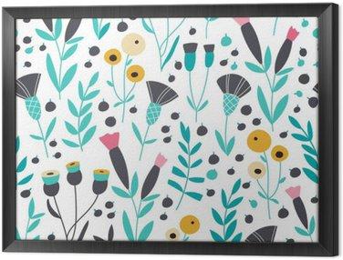 Obraz w Ramie Jednolite kwiatowy wzór skandynawskich jasne