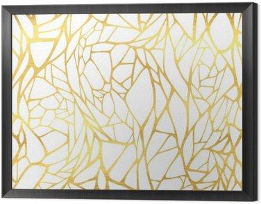 Jednolite wzór z abstrakcyjne złotym ornamentem