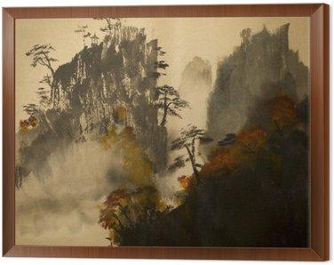 Obraz w Ramie Jesień w górach Chin
