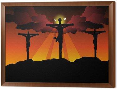 Obraz w Ramie Jezus Chrystus ukrzyżowany