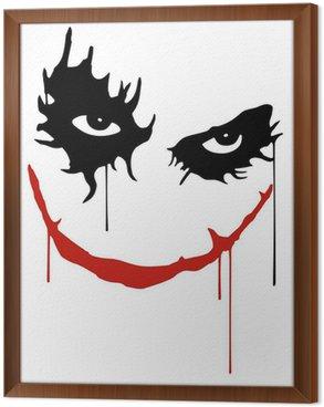 Obraz w Ramie Joker uśmiech