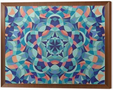 Obraz w Ramie Kalejdoskop geometrycznej kolorowy wzór. Streszczenie tle. ilustracji wektorowych