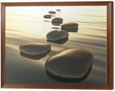 Obraz w Ramie Kamienie krok