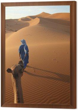 Obraz w Ramie Karawane und Tuareg