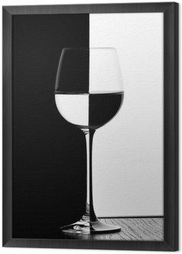 Obraz w Ramie Kieliszek do wina domino
