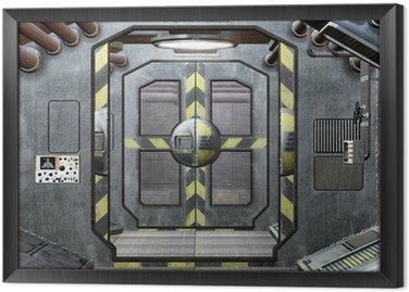 Obraz w Ramie Klapa i korytarz kosmicznym tle