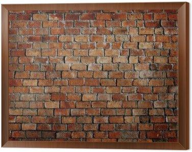 Obraz w Ramie Klasyczny piękny murowany teksturą ściany