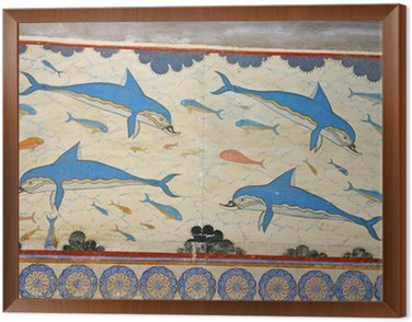 Obraz w Ramie Knossos delfiny