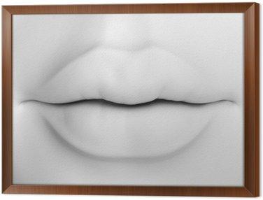 Obraz w Ramie Kobiece usta