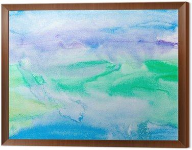 Obraz w Ramie Kolor gładzi akwareli sztuki