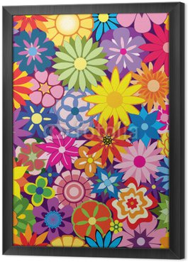 Obraz w Ramie Kolorowe tło kwiat powtarzalne powtarzając