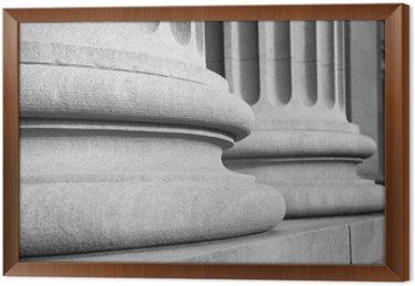 Obraz w Ramie Kolumny architektoniczne w klasycznym Federalnej buuilding