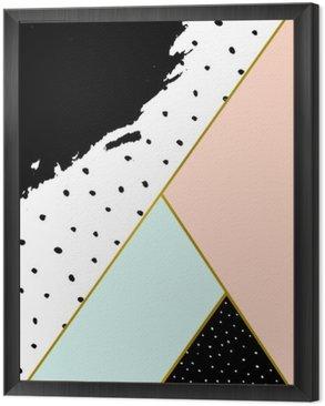Obraz w Ramie Kompozycja abstrakcyjna geometrycznej
