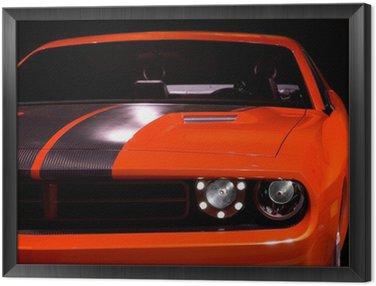 Obraz w Ramie Koncepcja muscle car