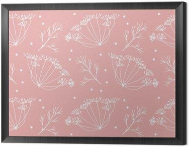 Obraz w Ramie Koperek lub kopru kwiatów i liści wzorca.