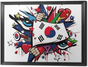 Obraz w Ramie Korea Południowa graffiti, koreański pop sztuki ilustracji