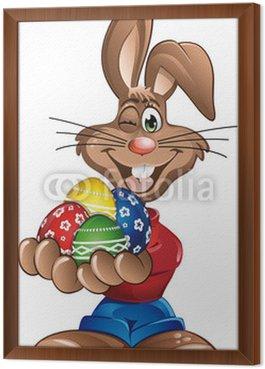 Królik Wielkanoc jajka w ręce