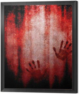 Obraz w Ramie Krwawa wydruku strony na ścianie