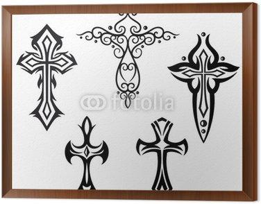 Obraz w Ramie Krzyże hamulcowych, krzyż, wiara, Symbol, religia