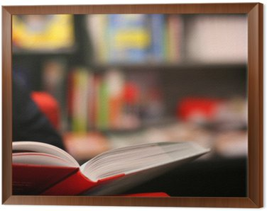 Obraz w Ramie Książki w księgarni