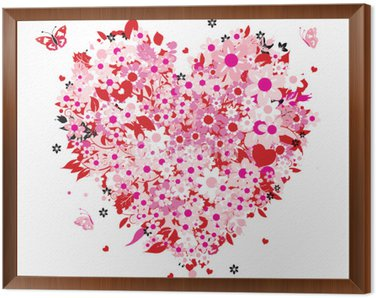 Obraz w Ramie Kształt serca kwiatu
