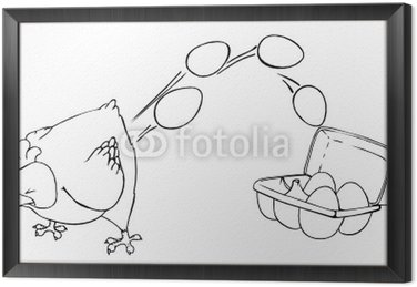 Kurczak, jajka, jajka, wielkanoc, pisanki, jajka w kartonie, fabrycznie kurczaka