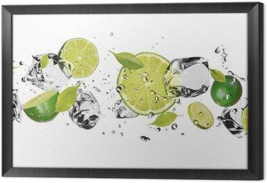 Obraz w Ramie Lodu owoce na białym tle