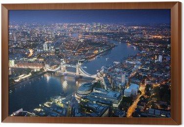 Obraz w Ramie Londyn w nocy z architektury miejskiej i Tower Bridge