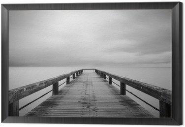 Obraz w Ramie Lunga Esposizione w bianco e nero