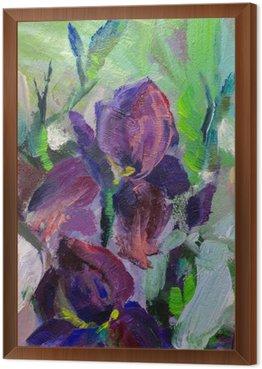 Obraz w Ramie Malowanie martwa natura obraz olejny tekstury, irysy impresjonizm