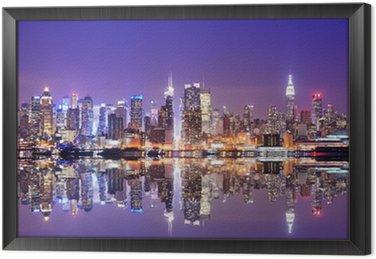 Obraz w Ramie Manhattan skyline z odbicia