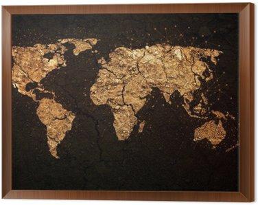 Mapa świata na tle grunge
