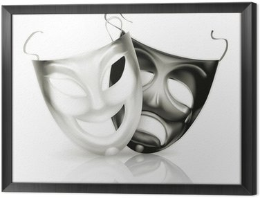 Obraz w Ramie Maski teatralne